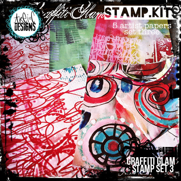 graffiti GLAM stamp set #3