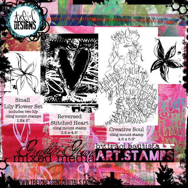 graffiti GLAM stamp set #4