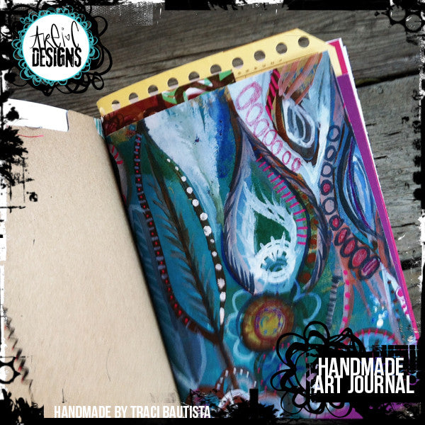 graffiti FLOWERS handmade art journal