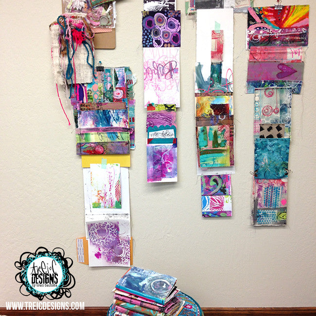 collage PLAY art quilt handmade art journal
