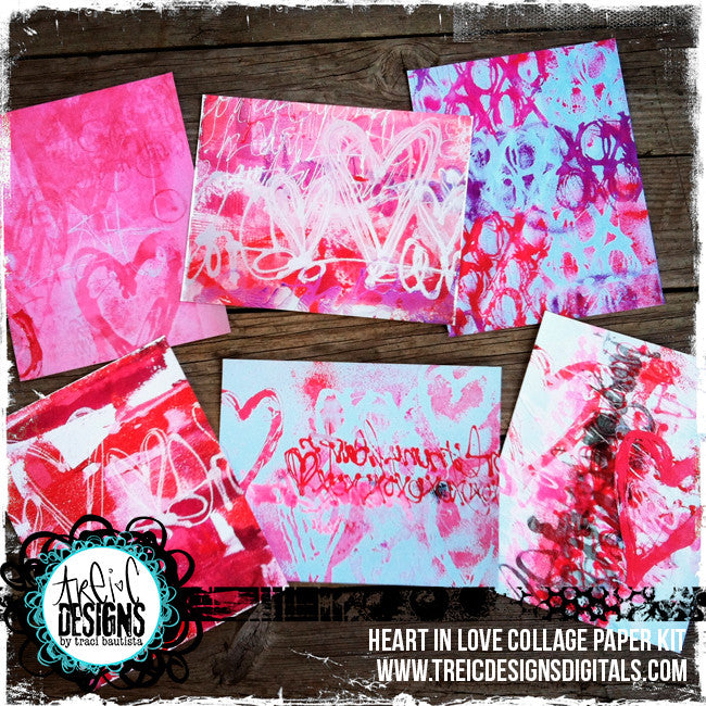 hearts xoxo handmade stencil kit