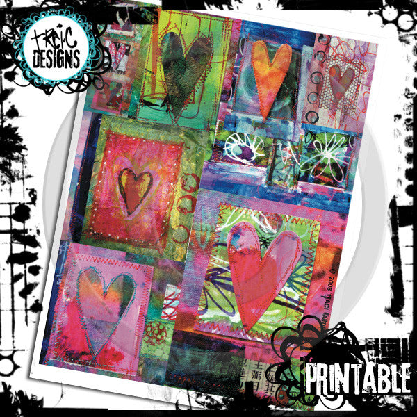 HEARTS art journaling cards