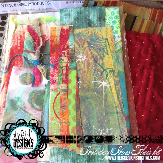 HOLIDAY hues FLAIR kit + stencil