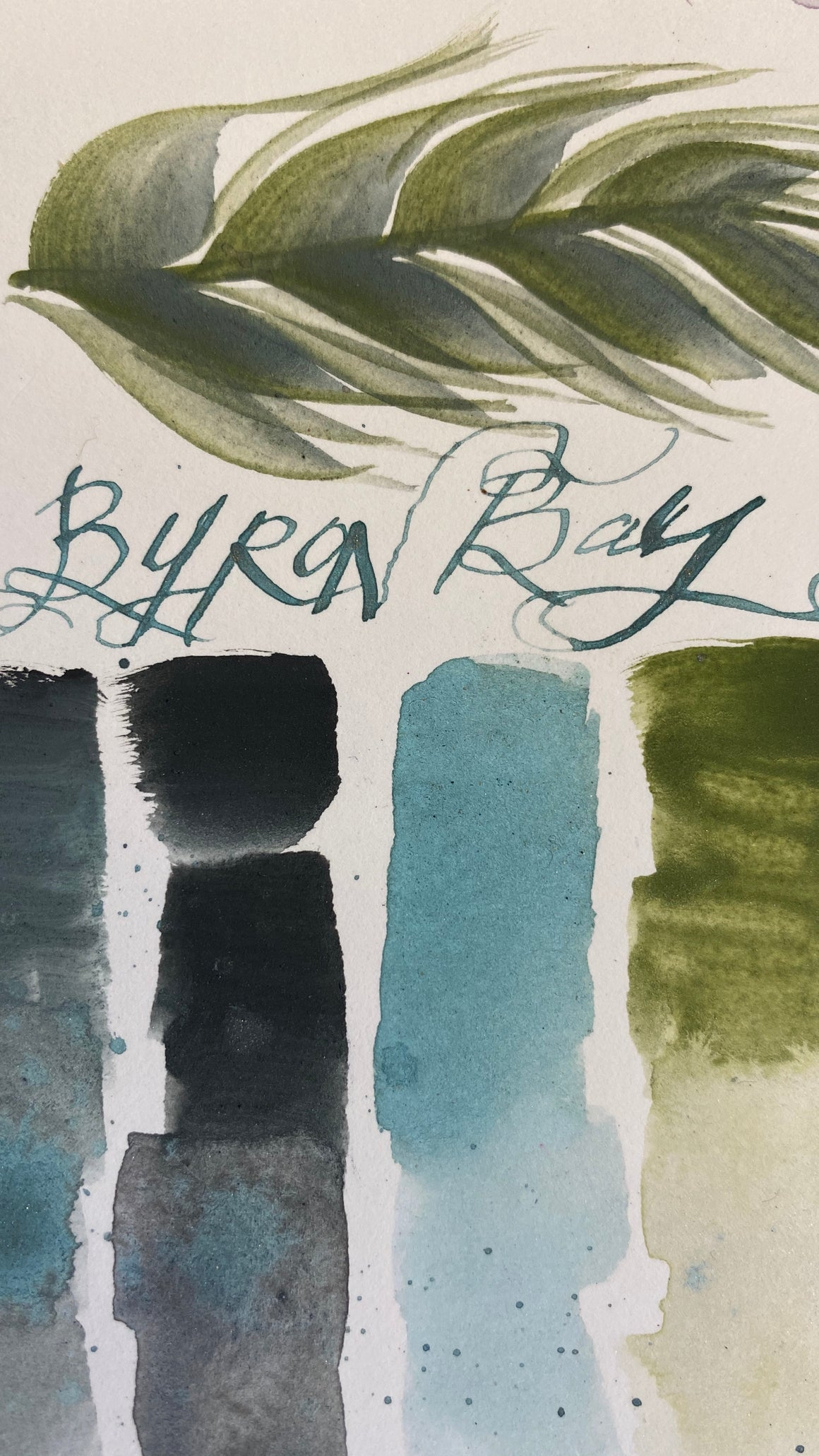 #tracibautistaCOLOR ~ BYRON BAY watercolor dot card & ink set