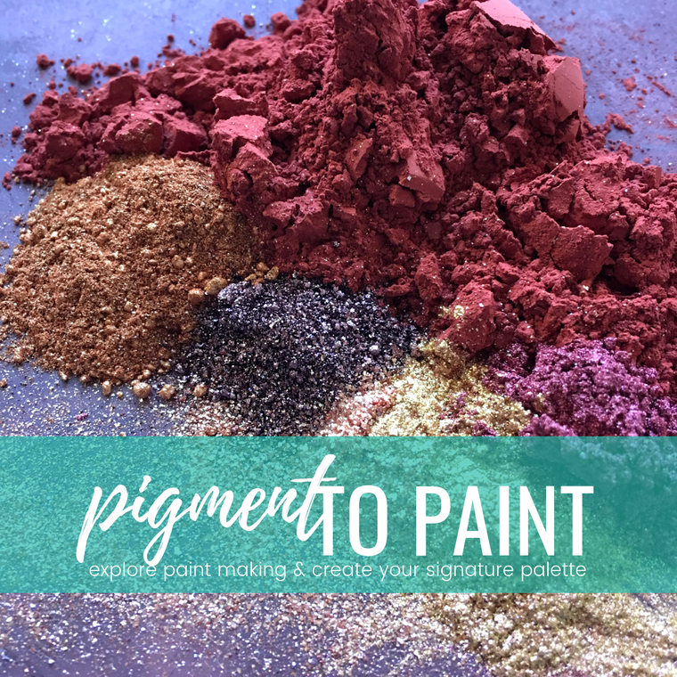 PIGMENT TO PAINT #tracibautistaCOLOR pigment sampler + paint making kit
