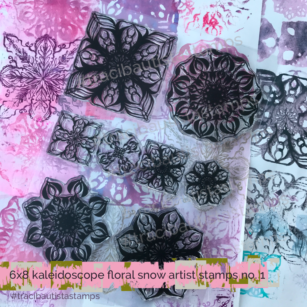 KALEIDOSCOPE floral snow stamp set no.1