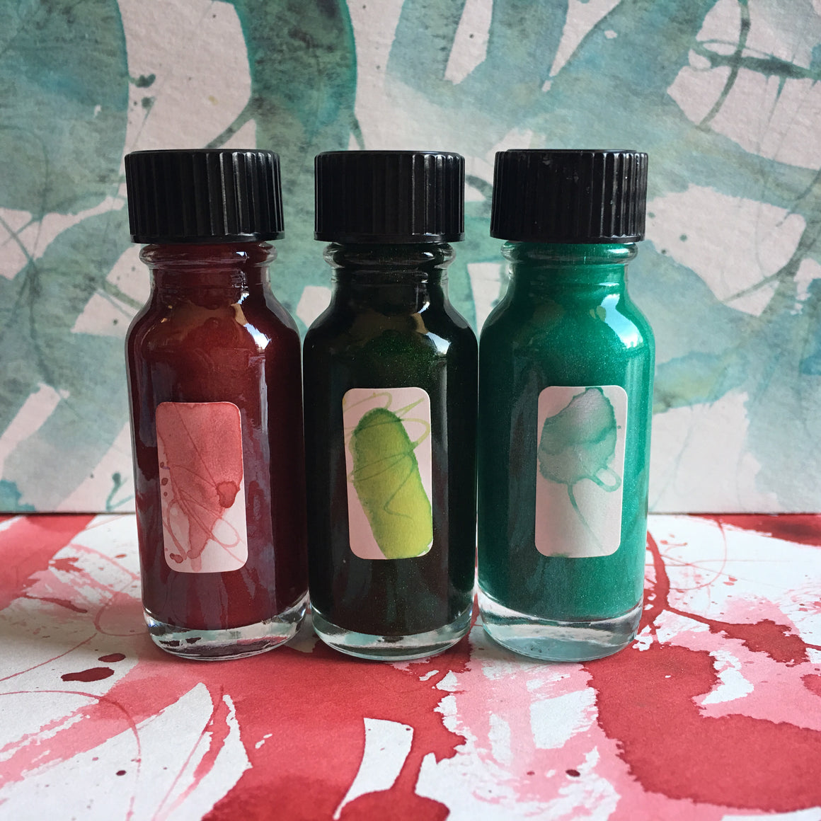 #tracibautistaCOLOR ~ WOODLAND SPARKLE artisan ink 3 set {15ml}