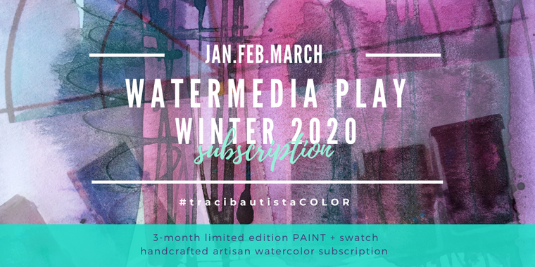 #tracibautistaCOLOR ~ WATERMEDIA PLAY subscription {WINTER 2020}
