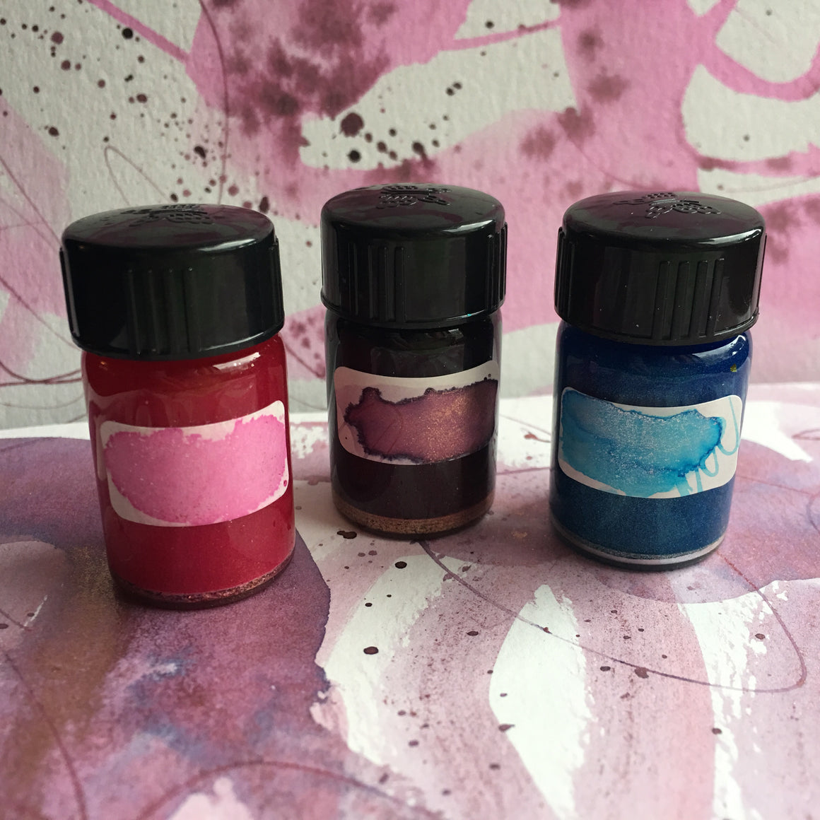 #tracibautistaCOLOR ~ winter WONDER artisan calligraphy ink 3 set