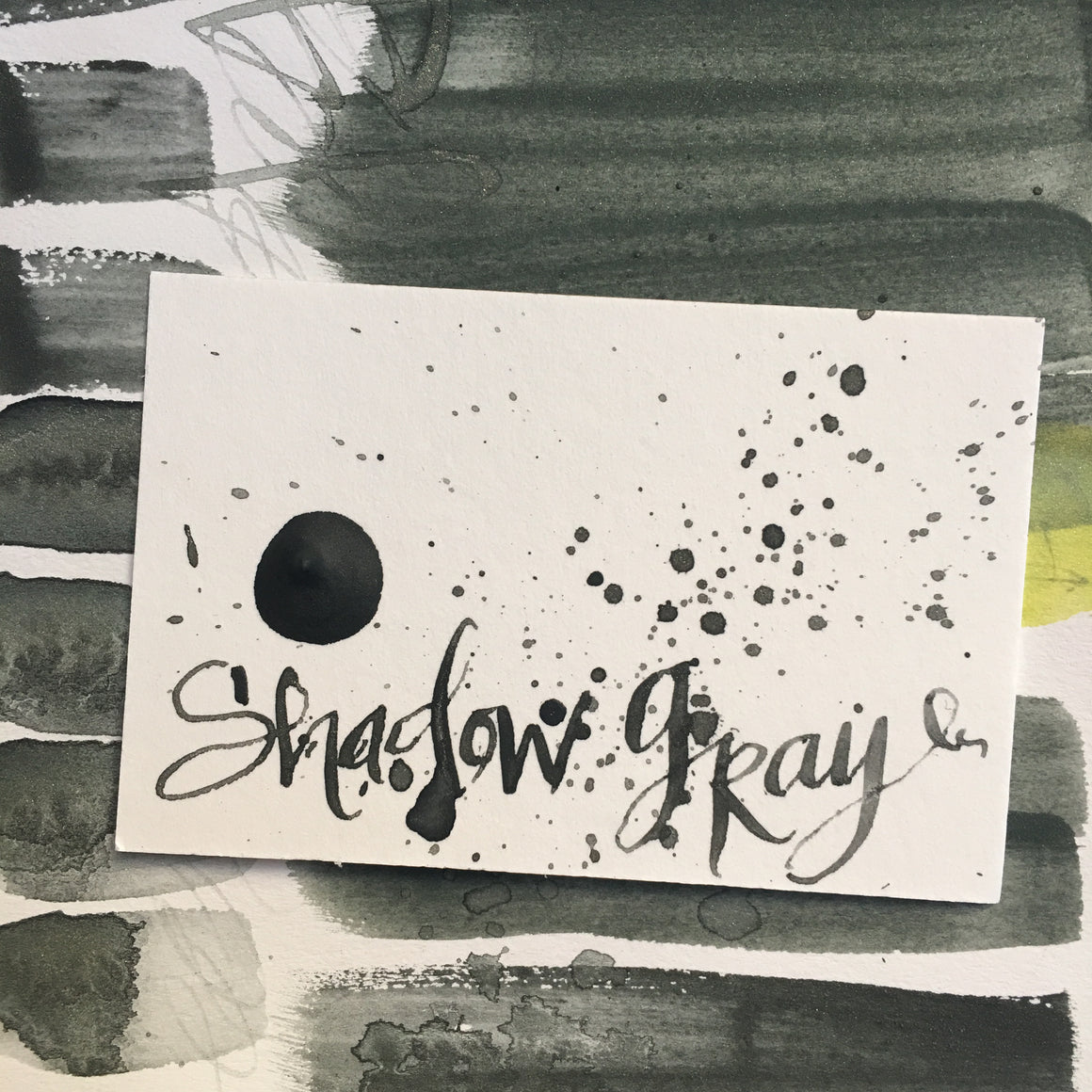 #tracibautistaCOLOR ~ shadows + sage watercolor sample dot cards