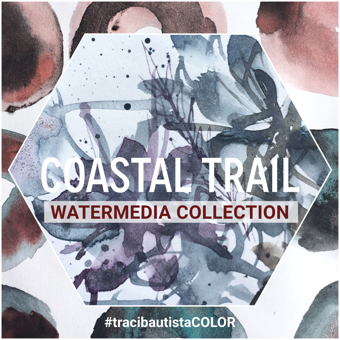 #tracibautistaCOLOR ~ COASTAL TRAIL artisanal watermedia collection 5-set