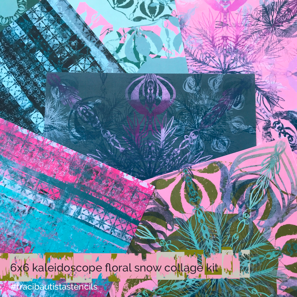 KALEIDOSCOPE floral snow stencil bundle ONLY