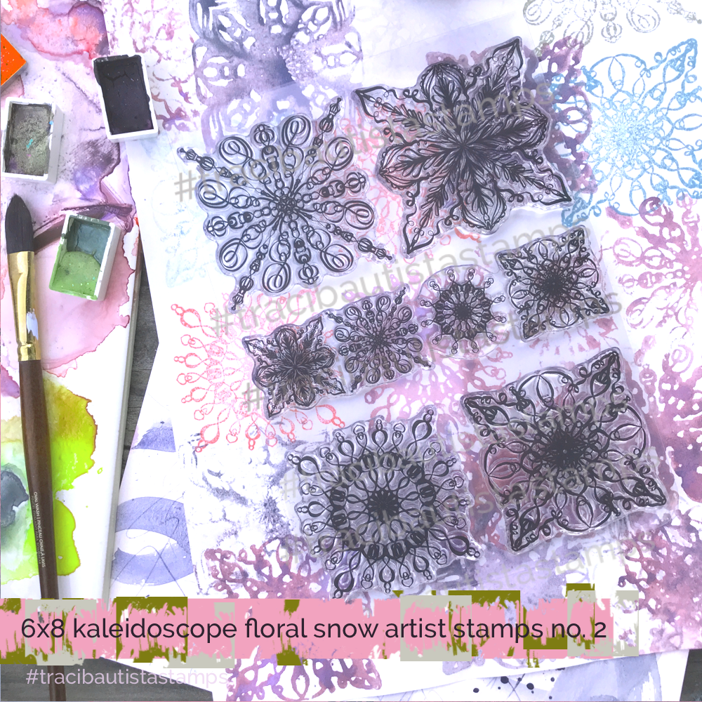 KALEIDOSCOPE floral snow stamp set no.2