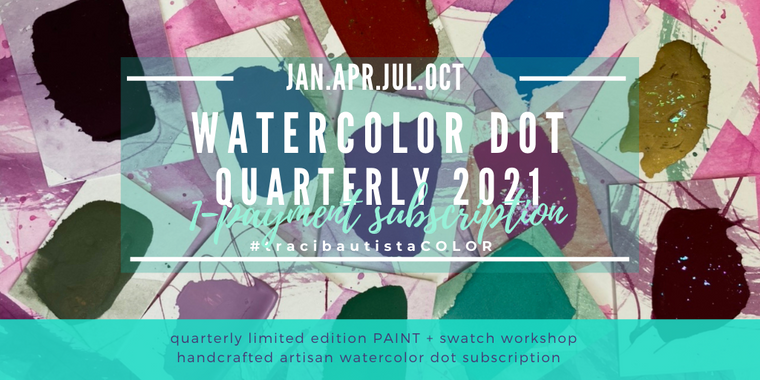 #tracibautistaCOLOR watercolor dot 2021 quarterly subscription {1-payment}