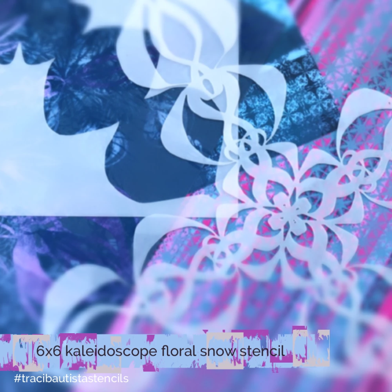 KALEIDOSCOPE floral snow stencil + workshop bundle