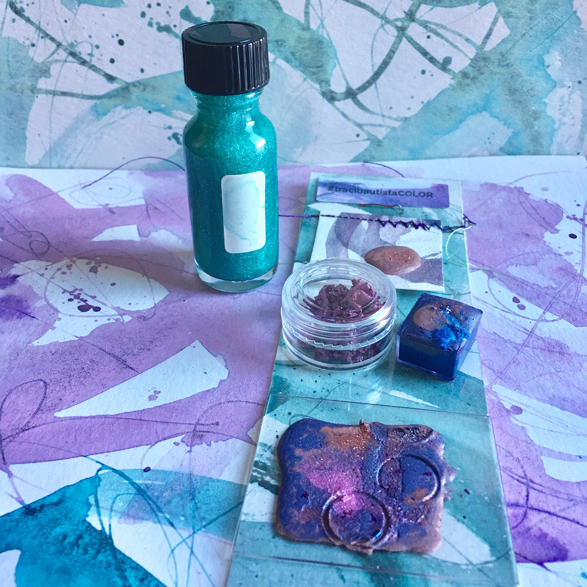 #tracibautistaCOLOR ~ WHISPERS OF WINTER artisanal watercolor collection