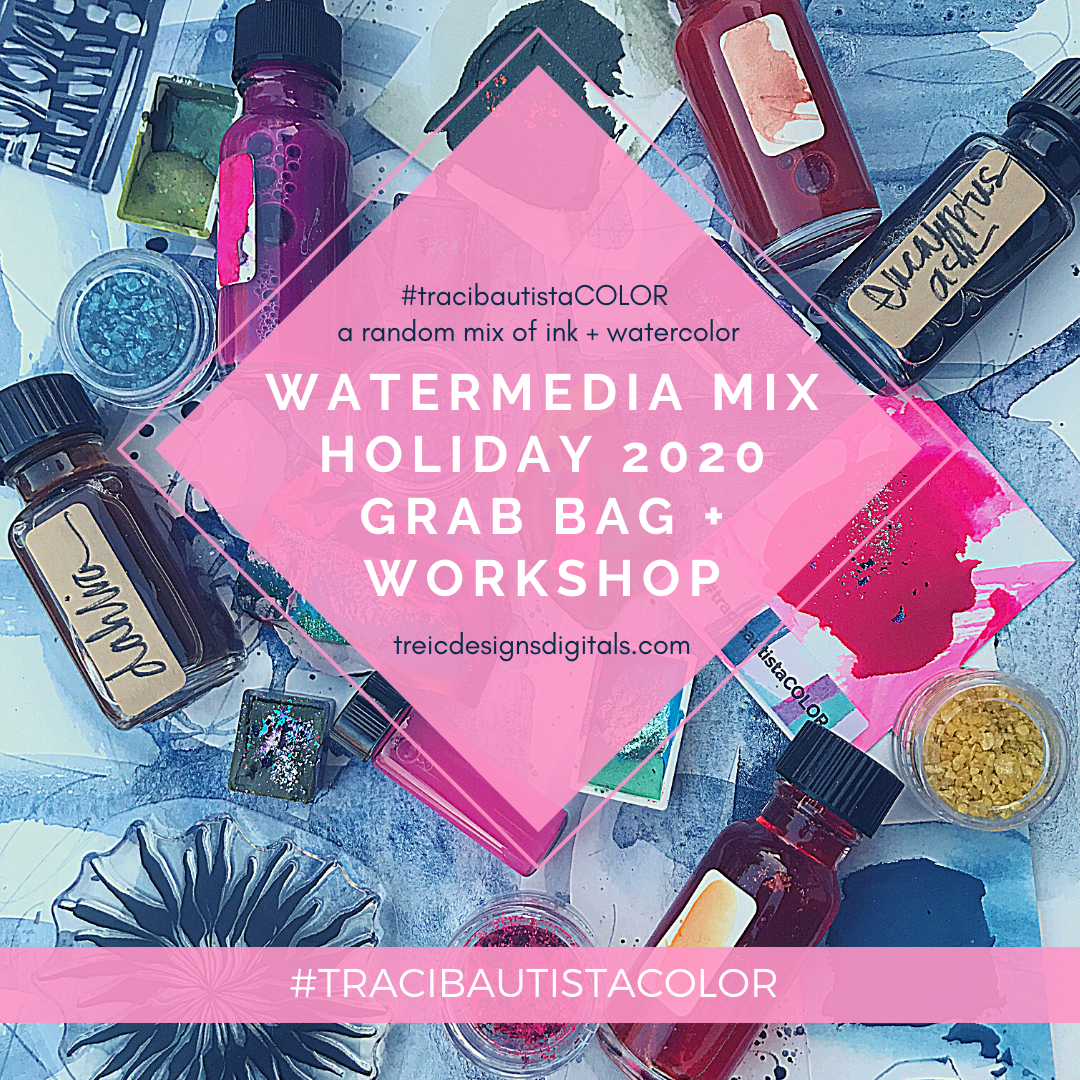 #tracibautistaCOLOR ~ HOLIDAY WATERMEDIA MIX grab bag