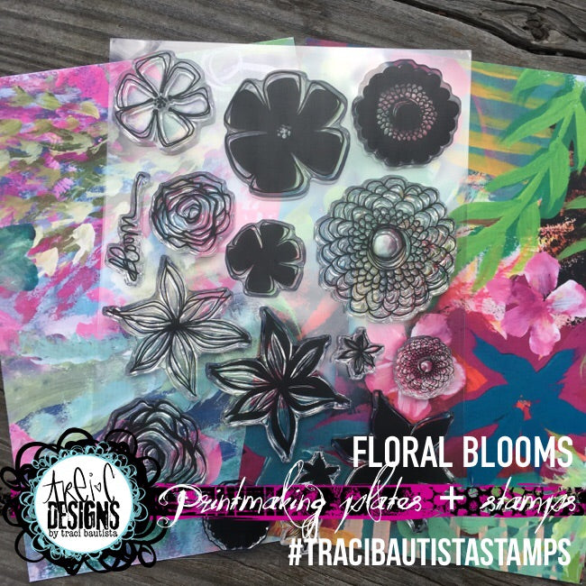 FLORAL blooms stamp set