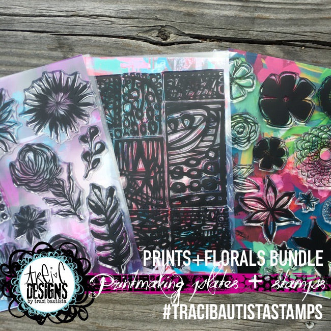 PRINTS + FLORALS printmaking stamp workshop BUNDLE