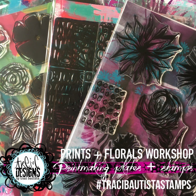 PRINTS + FLORALS watermedia printmaking workshop