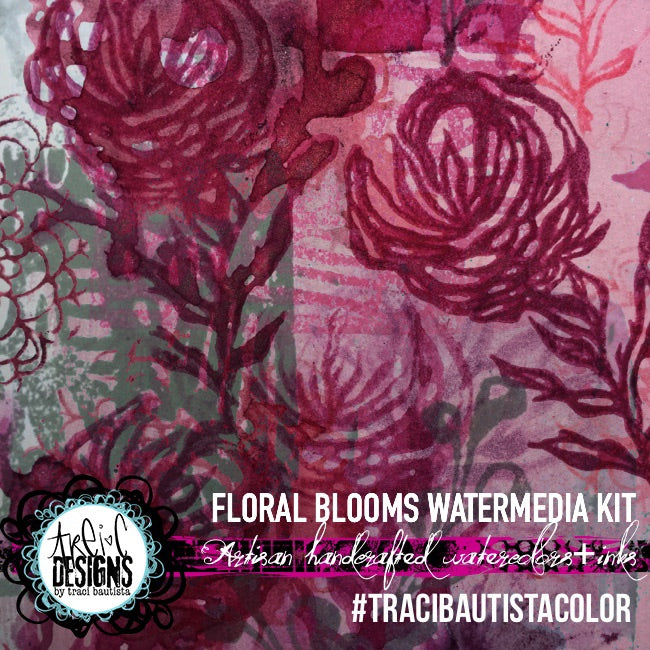 #tracibautistaCOLOR ~ FLORAL BLOOMS watermedia mix kit