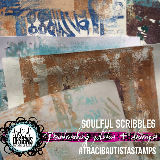 soulful scribbles PRINTMAKING PLATE stamp set