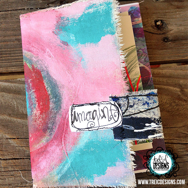 imagine art quilt handmade art journal