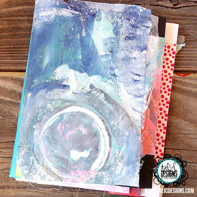 imagine blue collage quilt handmade art journal