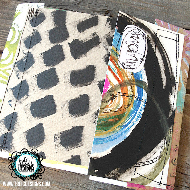 INSPIRE creativity triptych handmade art journal