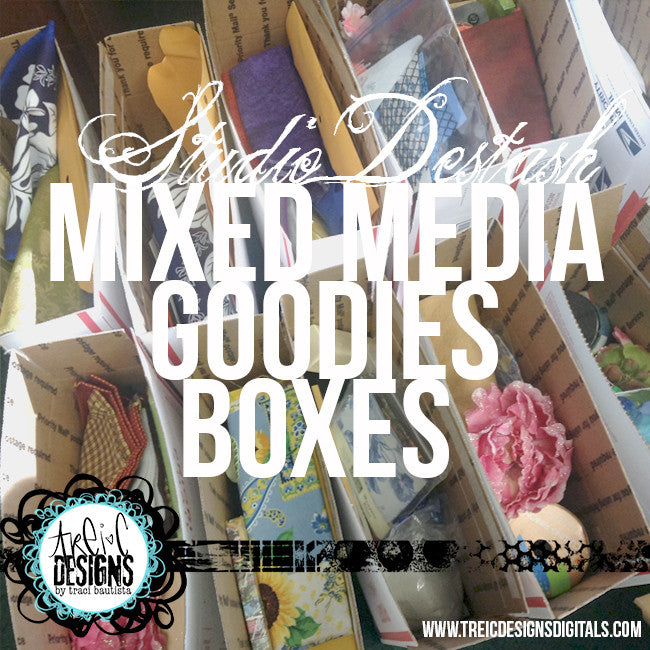 mixed media GOODIES box {studio destash} + BONUS live stream workshop