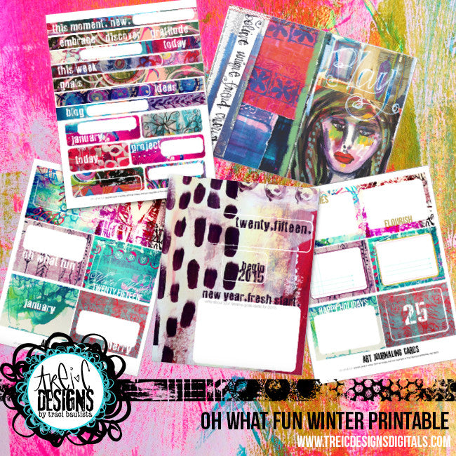 oh what fun winter DIY planner printable