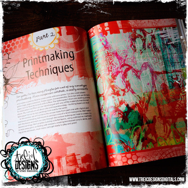 Printmaking Unleashed autographed book + stencil collage kit