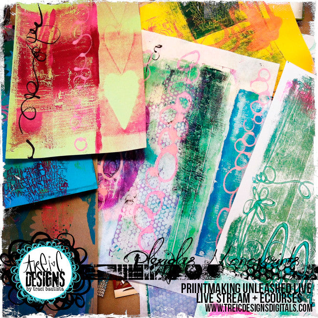Printmaking Unleashed LIVE online workshop BUNDLE