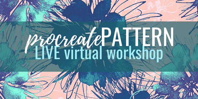 Procreate Pattern LIVE virtual workshop