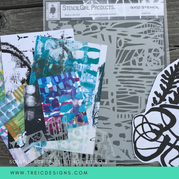 SOULFUL SCRIBBLES stencil kit no. 2 + live stream