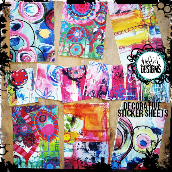 art journaling sticker sheet set