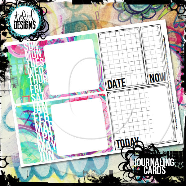 days+months journaling cards