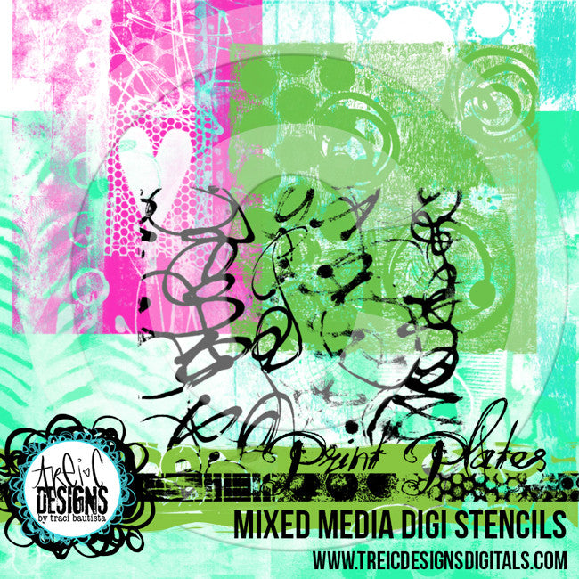 PRINT plates digital stencils + brushes