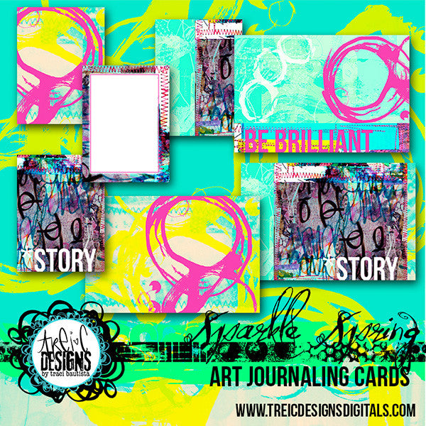SPARKLE SPRING journaling cards