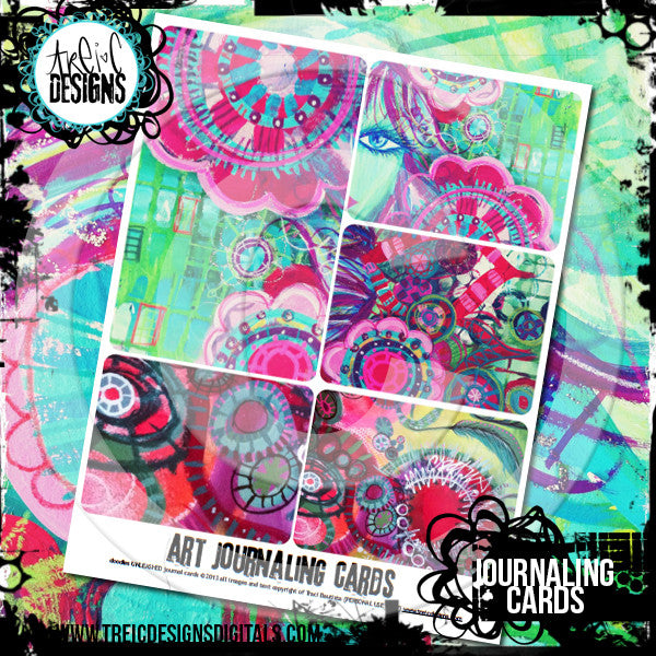 doodles UNLEASHED journaling cards