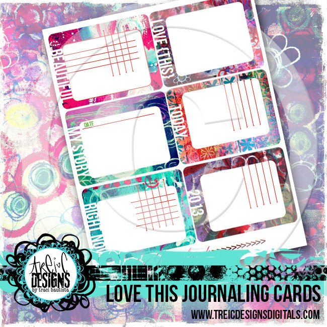 LOVE this journaling cards