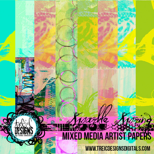 SPARKLE SPRING printable papers