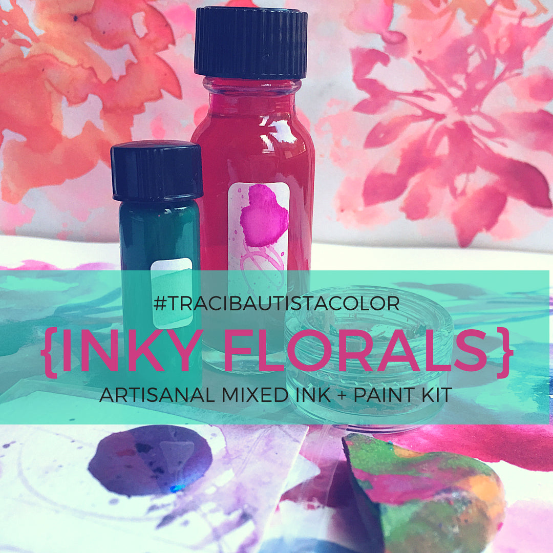 inky FLORALS MIX #tracibautistaCOLOR INK kit