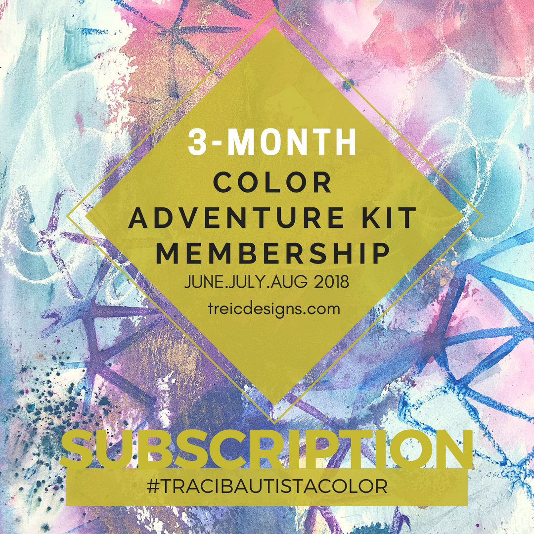3-month #tracibautistaCOLOR adventure kit subscription