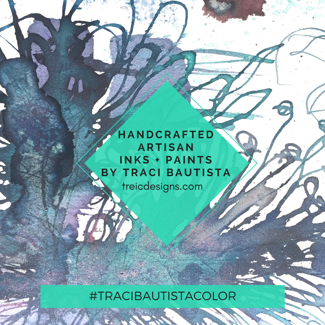 #tracibautistaCOLOR ~ C7.alchemy{luster} artisanal watercolor collection LABRADORITE