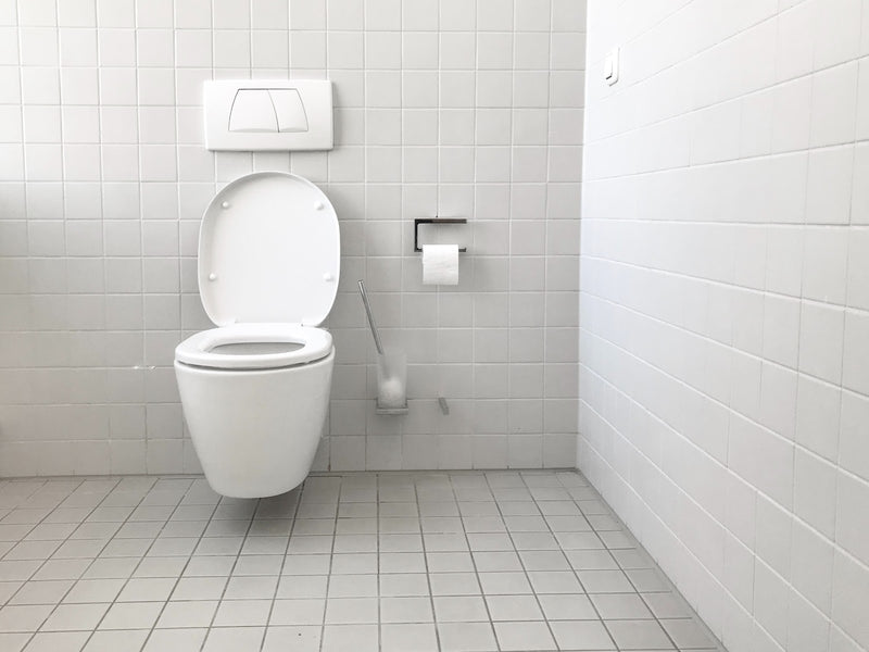 white bathroom public restroom partition