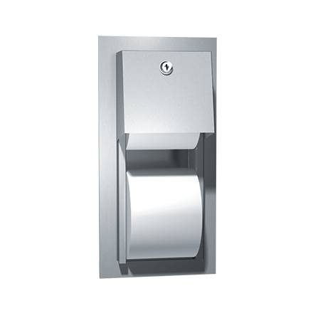 ASI 0031 - Toilet Tissue Dispenser, Twin Hide-A-Roll – Recessed | Choice Builder Solutions