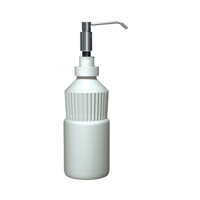 "ASI-0336 - Manual Soap Dispenser - Foam - 4"" Spout - Stainless Steel - 34 oz. - Vanity Mounted 