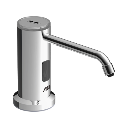 ASI-0338 - Auto TOP FILL Soap Dispenser - Liquid - AC - Bright Stainless Steel - 50.7 oz. - Vanity Mounted - NEW | Choice Builder Solutions
