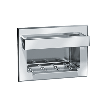 ASI-0399 - Soap Dish w/ Bar - Stainles Steel, Wet Wall - Recessed | Choice Builder Solutions